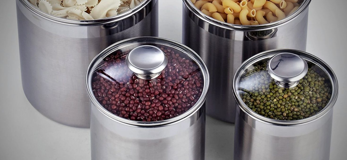 Best Stainless Steel Canister Set for Kitchen