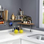 countertop corner shelf unit