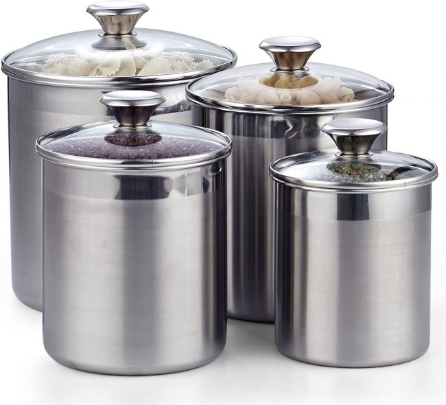 best stainless steel canister set