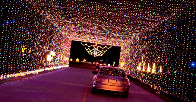 Go For Christmas Light Night Drive with Family