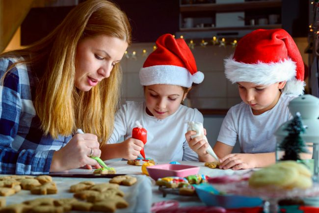 Prepare Christmas Cookies and Cakes together