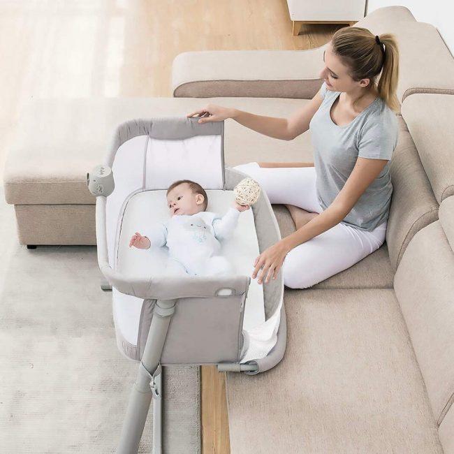 luxury co sleeper crib