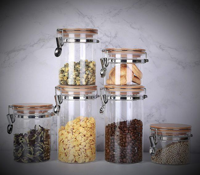 best glass storage jars